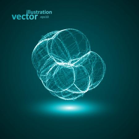 Futuristic illustration - conceptual virus, abstract shape eps10