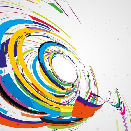 visual art: Futuristic abstract shape illustration, technology background