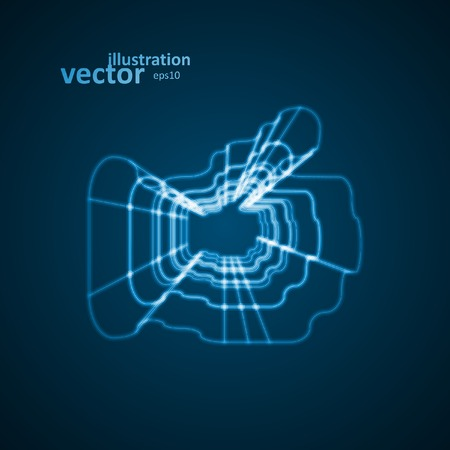 Abstract symbol of LIKE, blue background, vector illustration  Vector