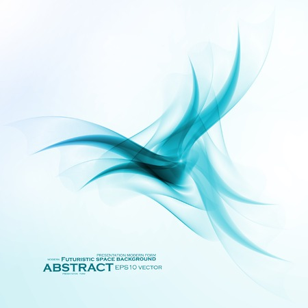 abstract waves: Abstract blue, wave vector , futuristic illustration