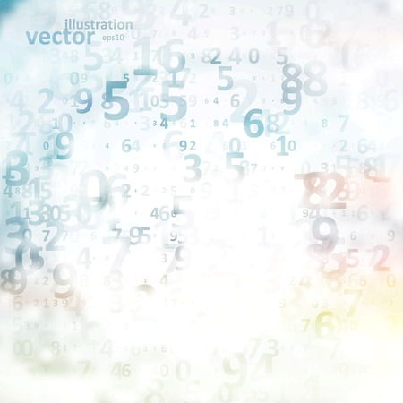 number code: Digital code background, abstract vector illustration