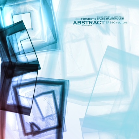 destructive: Abstract vector background, digital art illustration  Illustration