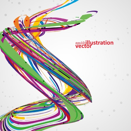 Abstract wave background, futuristic technology illustration Vector