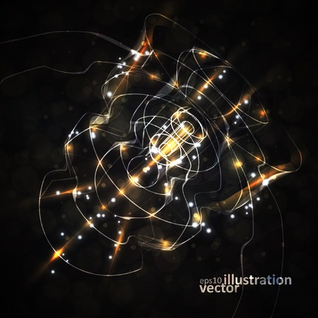 Futuristic abstract vector illustration, technology background eps10 Illustration