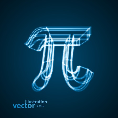 The mathematical constant Pi, blue background, abstract vector illustration eps10 Vector