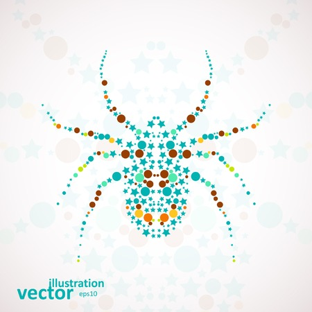 Abstract vector spider cartoon, colorful art illustration eps10 Illustration