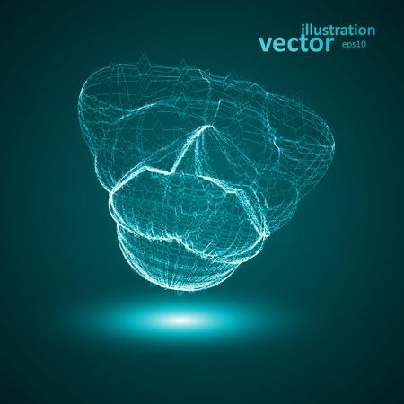 virus sida: Ilustraci�n futurista - conceptual virus, forma eps10 Vectores