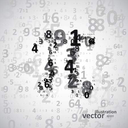 The mathematical constant Pi, many digits  Vector