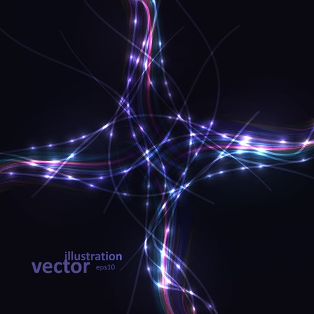Abstract Creative dynamic element, light lines Illustrations. Vector