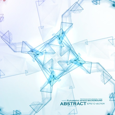 Abstract background, digital art illustration . Vector