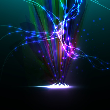 Abstract. Creative dynamic element,  light lines Illustrations. illustration