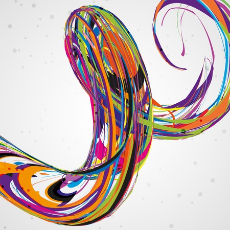 linking: Abstract wave background, futuristic technology illustration