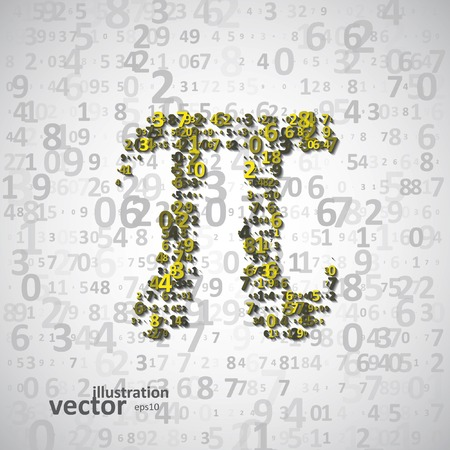 pi: The mathematical constant Pi, many digits