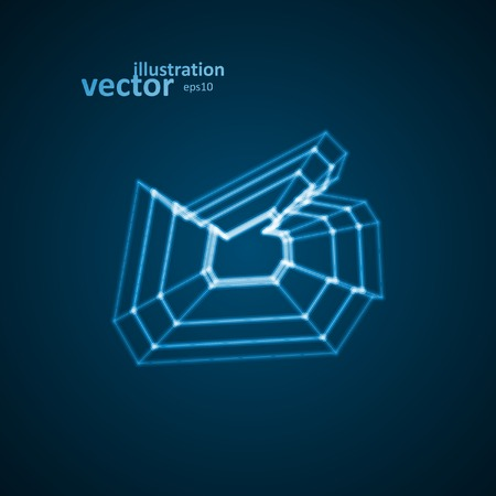 Abstract symbol of LIKE, blue background, vector illustration eps10 Vector