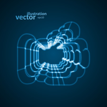 Abstract symbol of LIKE, blue background Vector