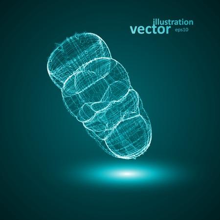 Futuristic illustration - conceptual virus Stock Vector - 29034711