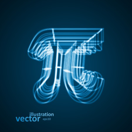 The mathematical constant Pi, blue background