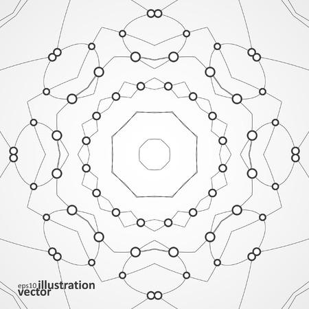 Abstract vector stylish background, futuristic technology illustration  Vector