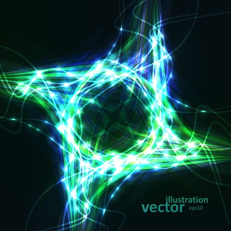 Abstract vector. Creative dynamic element, light lines Illustrations. Vector