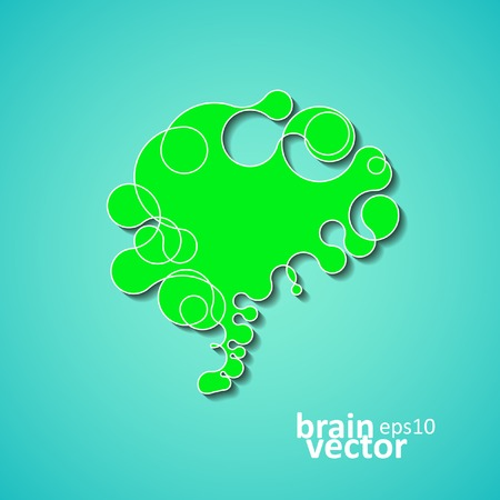 Colorful concept of the human brain, creative vector illustration