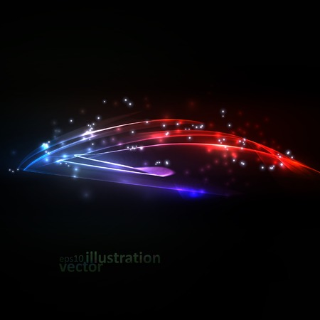 Abstract vector eps10  Creative dynamic element, light lines Illustrations  Vector