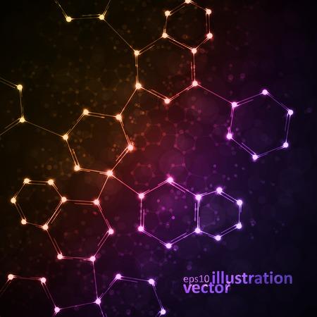 Futuristic dna, abstract molecule, cell illustration eps10 Stock Vector - 30509893