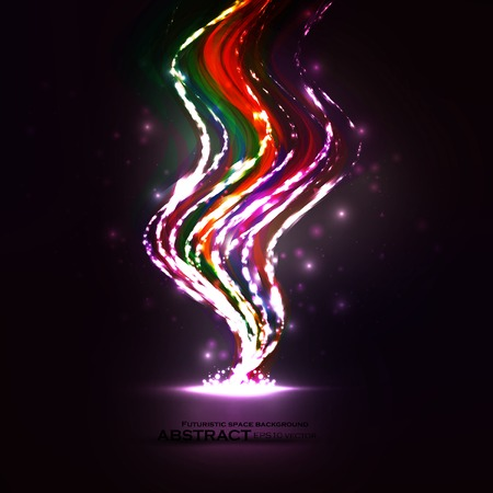 Abstract Creative dynamic element, light lines Illustrations  Vector