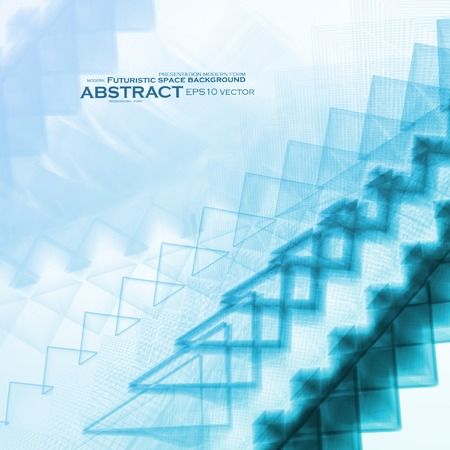 Abstract blue vector background, futuristic art illustration eps10 Vector