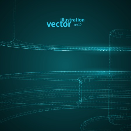 lines background: Abstract vector futuristic illustration eps10, creative dynamic element  Illustration