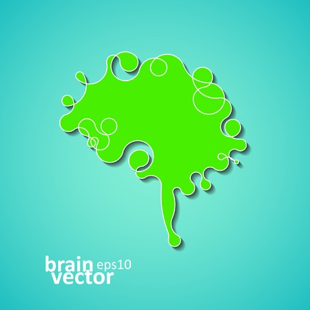 Colorful concept of the human brain, creative vector illustration eps10 Illustration