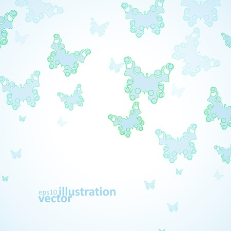Abstract Butterfly background, futuristic art illustration eps10 Vector