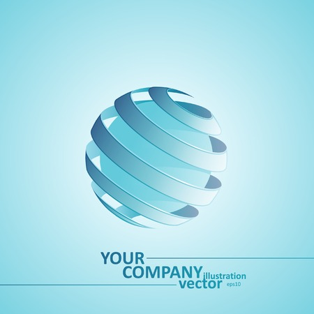 Spiral Sphere Abstract Lines, Vector Illustration eps10, Graphic Concept  For Your Design. Vector