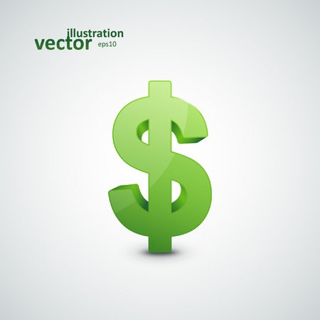 Dollar Sign, Vector Illustration eps10, Graphic Concept  For Your Design.