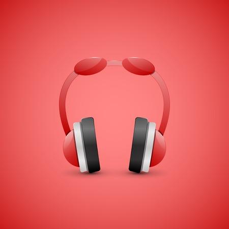 Headphones Illustration, Graphic Concept illustration