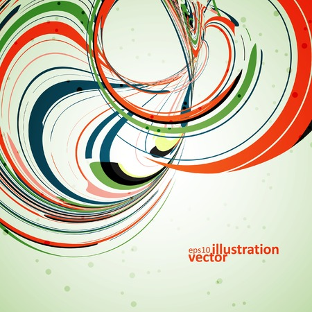 Abstract wave background, futuristic vector illustration  Vector