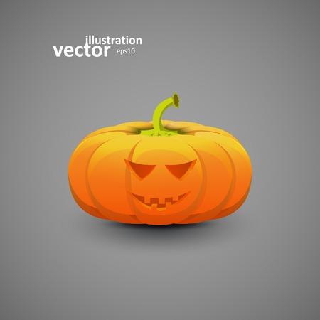 terrible: Halloween Pumpkin, Vector Illustration , Graphic Concept For Your Design. Illustration