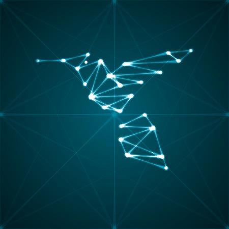 Abstract hummingbird illustration illustration