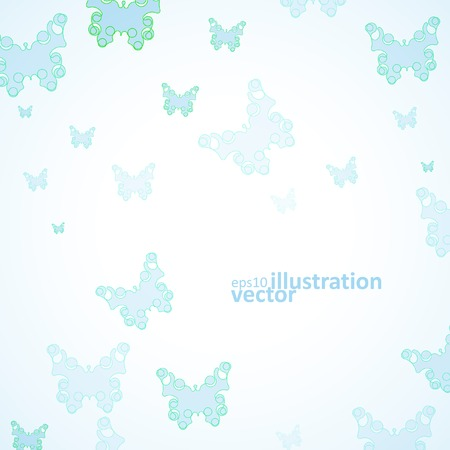 Abstract Butterfly background, futuristic art illustration  Vector