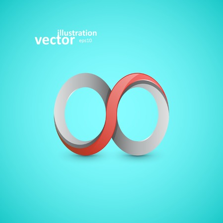 Infinity sign, vector graphic design, stylish concept eps10