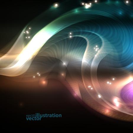 Creative dynamic element, light lines Illustrations. Vector