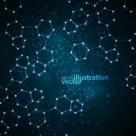 Futuristico dna molecola astratta Archivio Fotografico - 33203339