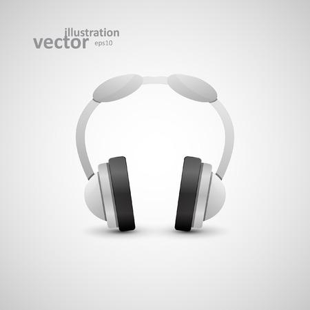Headphones Illustration Graphic Concept