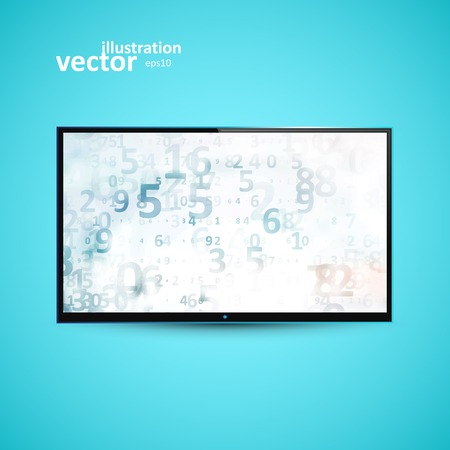 flat screen tv: TV Flat Screen lcd Illustration Graphic Concept   Illustration