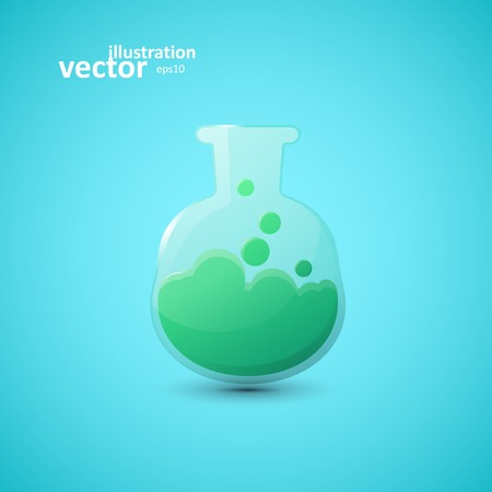chemical laboratory: Chemical laboratory flask, vector graphic design, stylish concept eps10