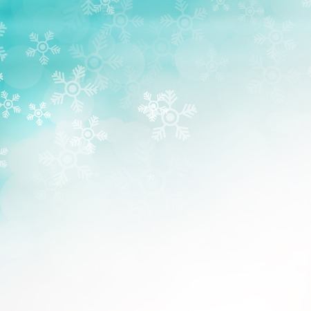 winter holidays: Christmas background with snowflakes Stock Photo