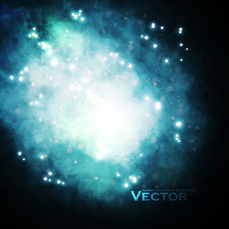 astro: Starry background, rich star forming nebula, colorful abstract illustration eps10