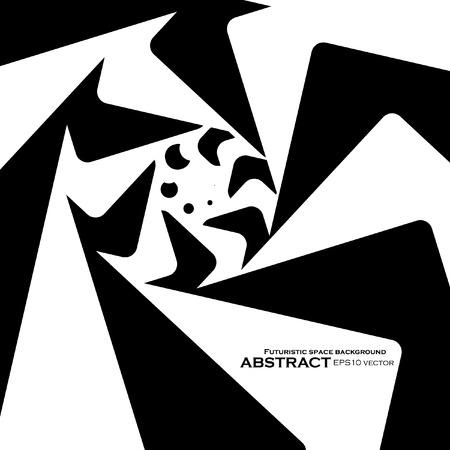 arte optico: Espiral de fondo abstracto, arte �ptico din�mico, ilustraci�n vectorial eps10
