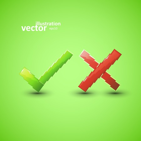 assent: Yes or No icons, vector graphic design, stylish concept eps10