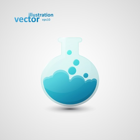 Chemical laboratory flask, vector graphic design, stylish concept eps10 Vector