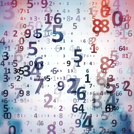 numbers abstract: Digital code background Stock Photo